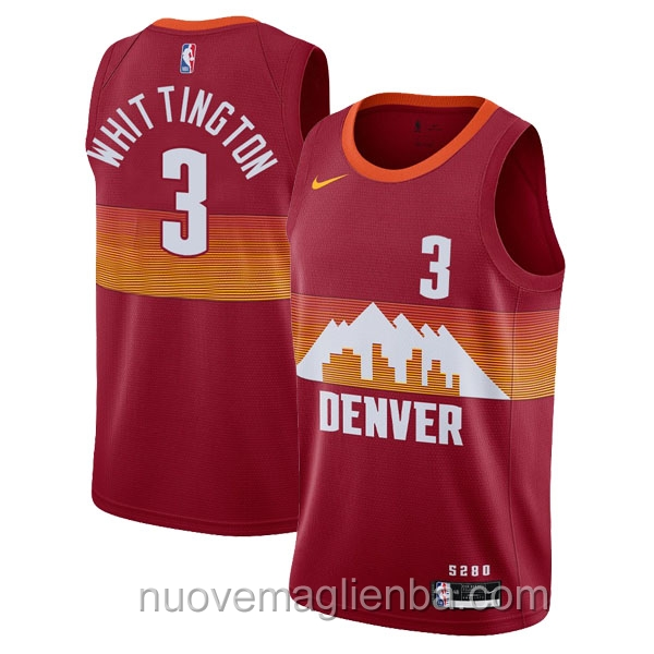 nuove maglie NBA per nike rosso Denver Nuggets Greg Whittington