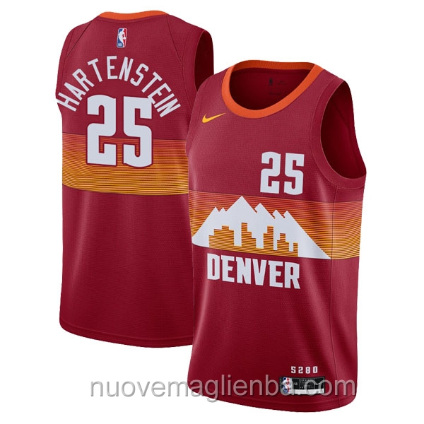 nuove maglie NBA per nike rosso Denver Nuggets Isaiah Hartenstein