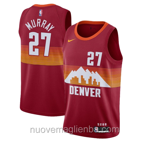 nuove maglie NBA per nike rosso Denver Nuggets Jamal Murray
