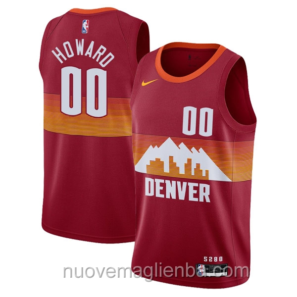 nuove maglie NBA per nike rosso Denver Nuggets Markus Howard
