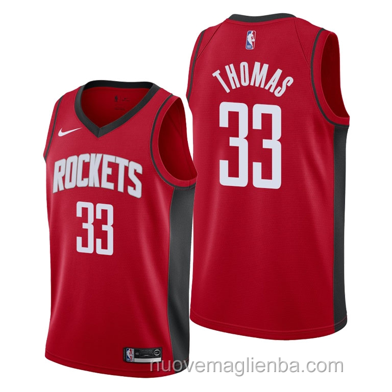 nuove maglie NBA per nike rosso Houston Rockets Brodric Thomas Icon 2021