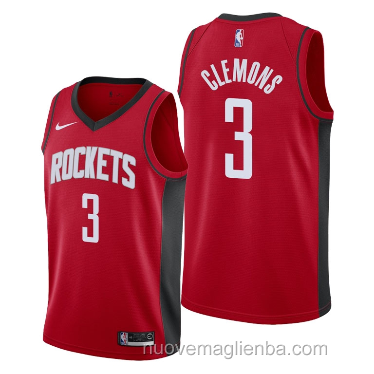 nuove maglie NBA per nike rosso Houston Rockets Chris Clemons Icon 2021