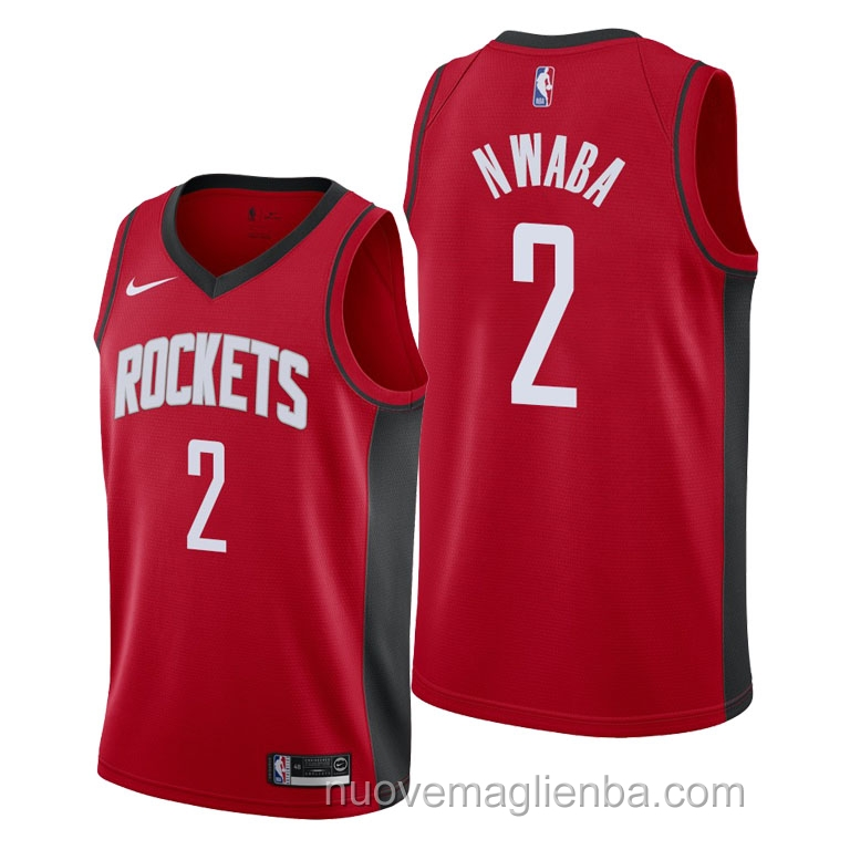 nuove maglie NBA per nike rosso Houston Rockets David Nwaba Icon 2021