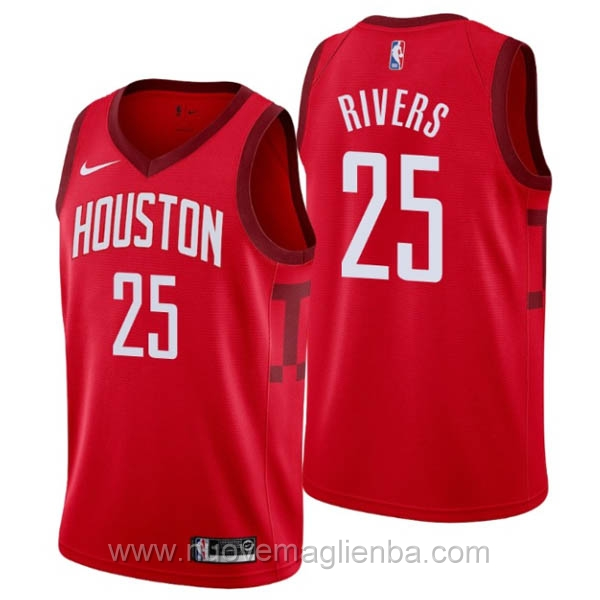 nuove maglie NBA per nike rosso Houston Rockets Earned Edition-Austin Rivers