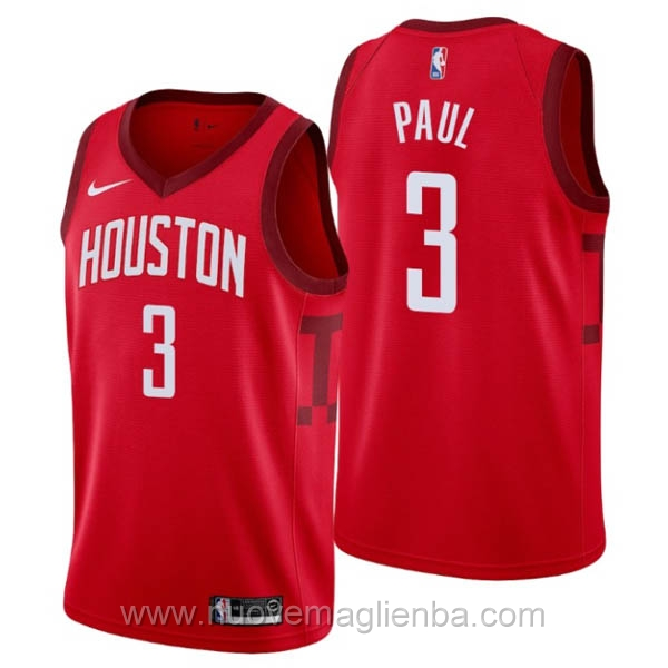 nuove maglie NBA per nike rosso Houston Rockets Earned Edition-Chris Paul