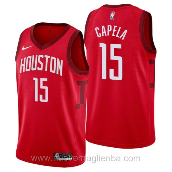 nuove maglie NBA per nike rosso Houston Rockets Earned Edition-Clint Capela