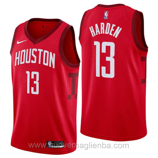 nuove maglie NBA per nike rosso Houston Rockets Earned Edition-James Harden