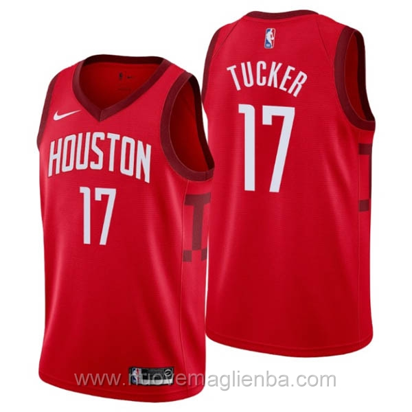nuove maglie NBA per nike rosso Houston Rockets Earned Edition-P.J. Tucker