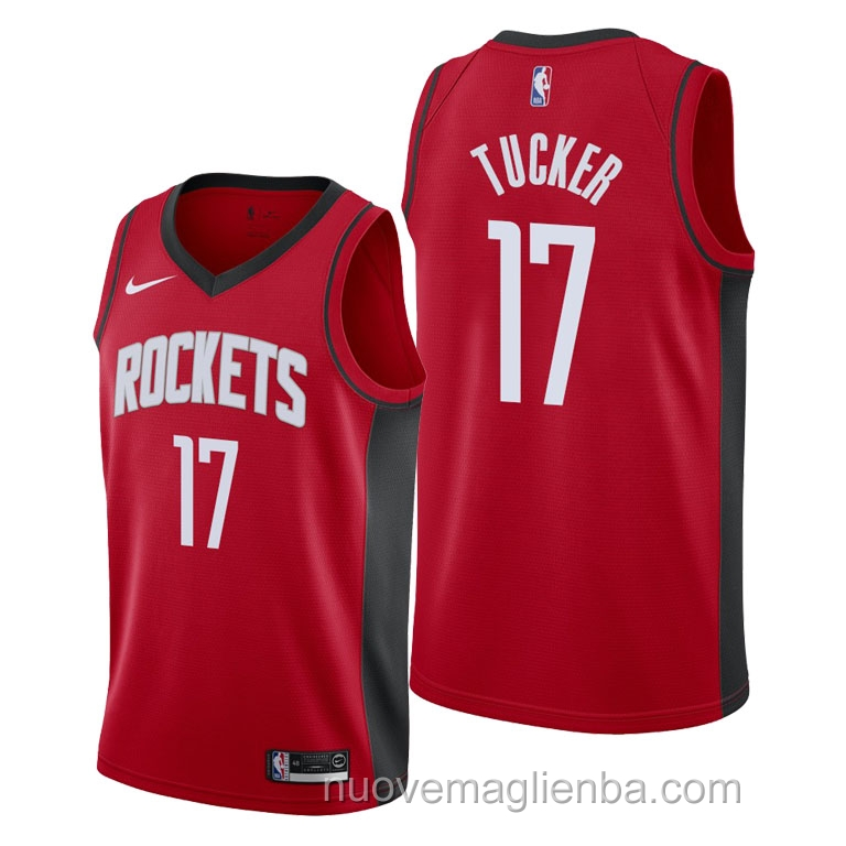 nuove maglie NBA per nike rosso Houston Rockets P.J. Tucker Icon 2021