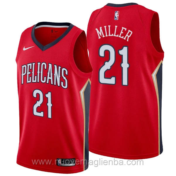 nuove maglie NBA per nike rosso New Orleans Pelicans Darius Miller