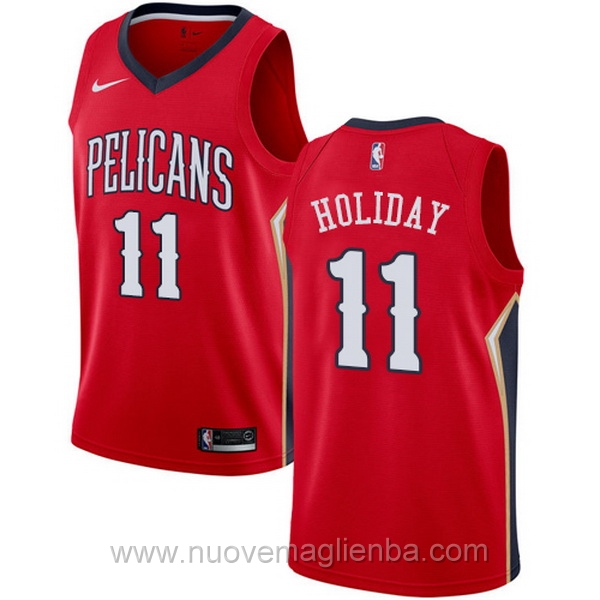 nuove maglie NBA per nike rosso New Orleans Pelicans Jrue Holiday