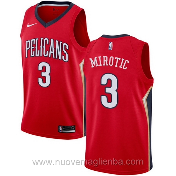 nuove maglie NBA per nike rosso New Orleans Pelicans Nikola Mirotic