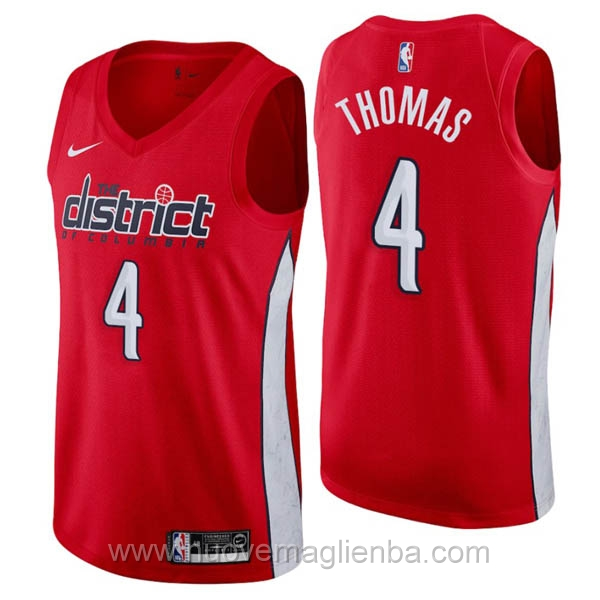 nuove maglie NBA per nike rosso Washington Wizards Earned Edition-Isaiah Thomas