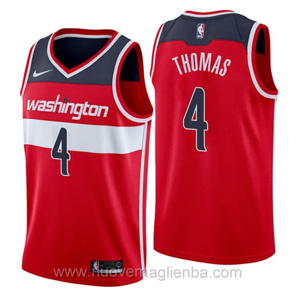 nuove maglie NBA per nike rosso Washington Wizards Isaiah Thomas