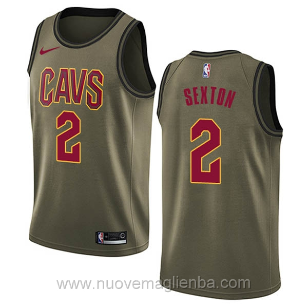 nuove maglie NBA per nike verde Cleveland Cavaliers Collin Sexton