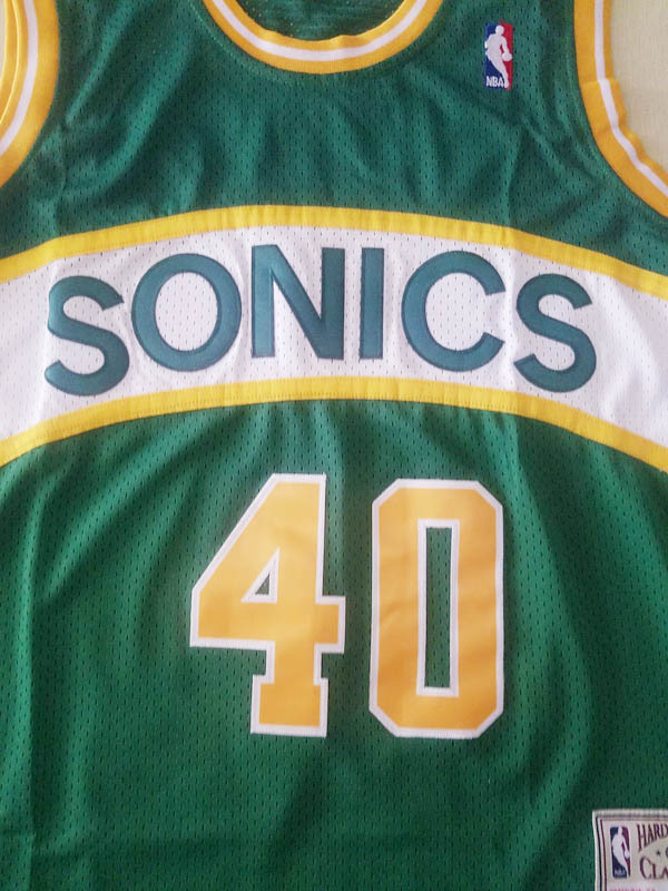 nuove maglie NBA per verde Seattle SuperSonics Shawn Kemp