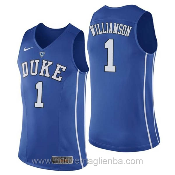 nuove maglie NCAA blu Duke Blue Devils-Zion Williamson