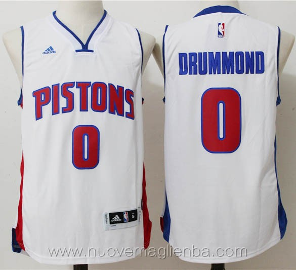 nuove maglie basket nba bianco Andre Drummond Detroit Pistons