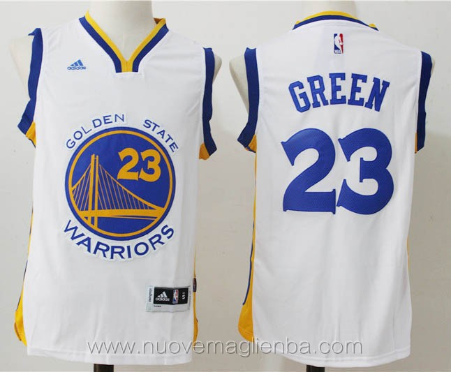 nuove maglie basket nba bianco Draymond Green Golden State Warriors