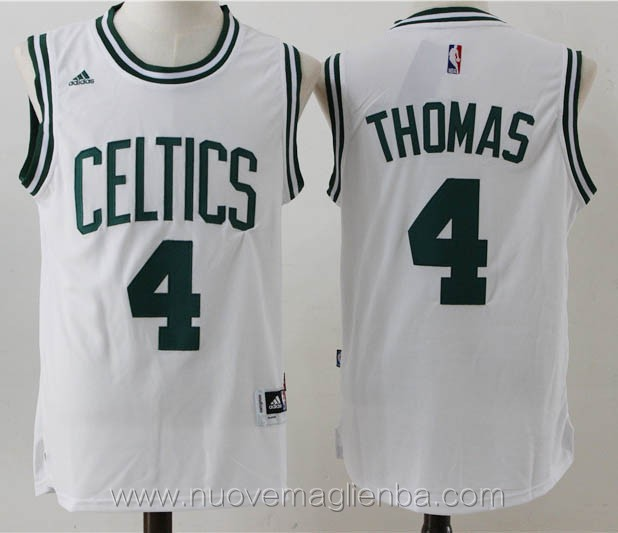 nuove maglie basket nba bianco Isaiah Thomas Boston Celtics