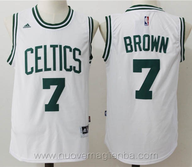nuove maglie basket nba bianco Jaylen Brown Boston Celtics