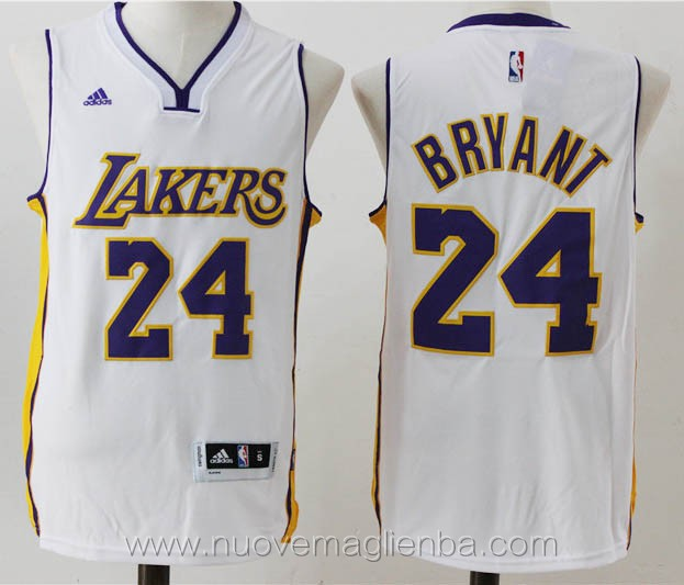 nuove maglie basket nba bianco Kobe Bryant Los Angeles Lakers