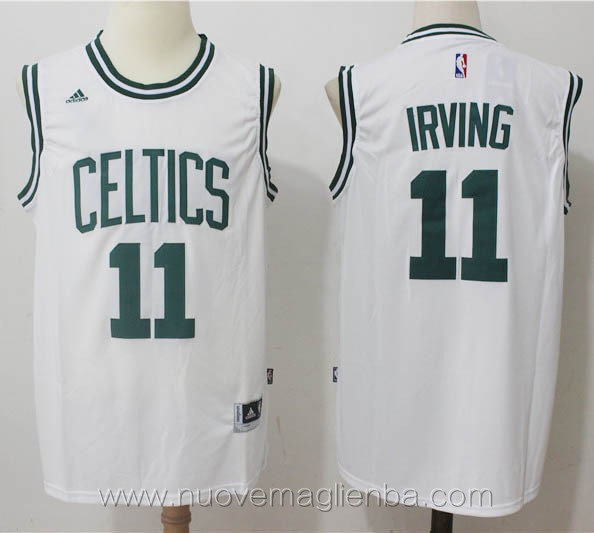 nuove maglie basket nba bianco Kyrie Irving Boston Celtics