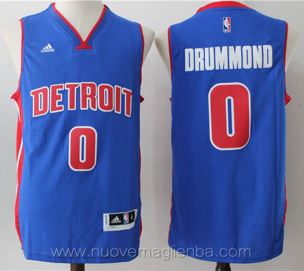 nuove maglie basket nba blu Andre Drummond Detroit Pistons