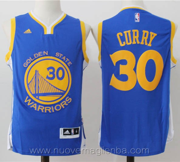 nuove maglie basket nba blu Stephen Curry Golden State Warriors