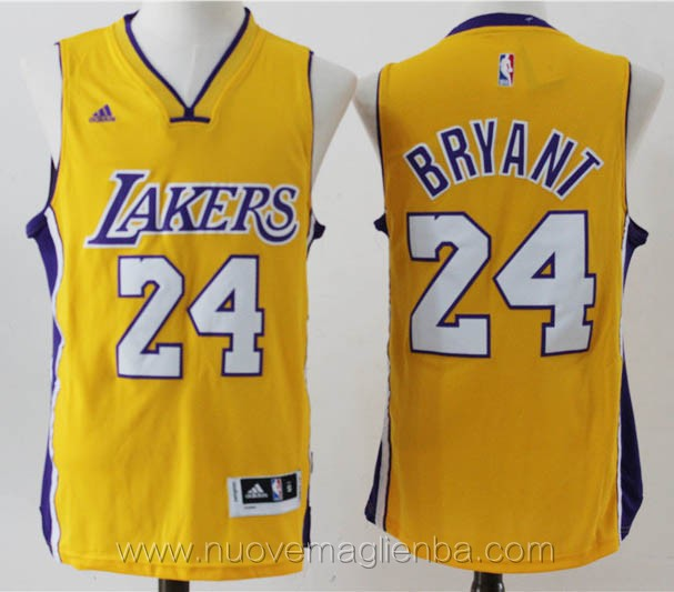 nuove maglie basket nba giallo Kobe Bryant Los Angeles Lakers