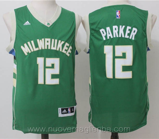 nuove maglie basket nba verde Jabari Parker Milwaukee Bucks