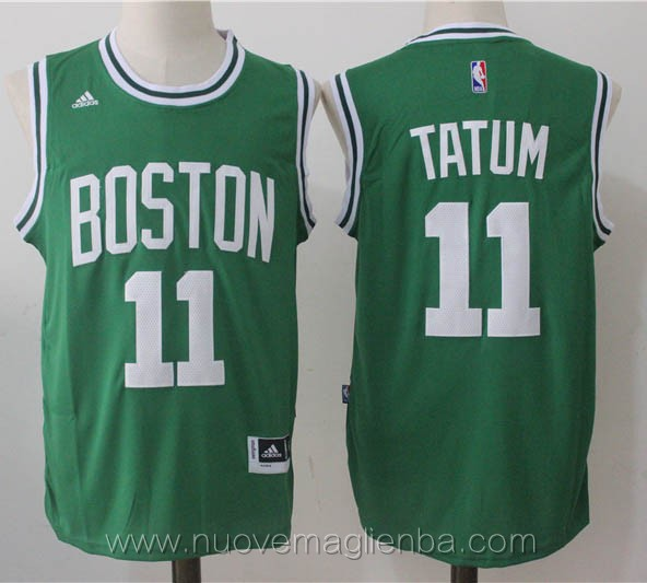nuove maglie basket nba verde Jayson Tatum Boston Celtics