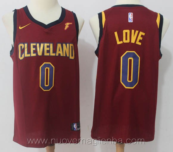 nuove maglie nba per nike rosso Kevin Love Cleveland Cavaliers versione fan