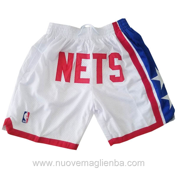 pantaloncini NBA nike poco prezzo bianco Brooklyn Nets Just Don