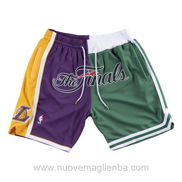pantaloncini nba giuntura poco prezzo Los Angeles Lakers Vs Boston Celtics Just Don 2008