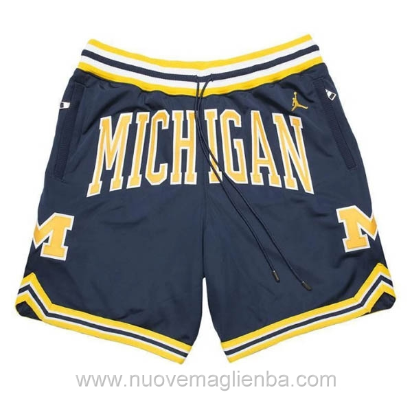 pantaloncini nba poco prezzo Blu scuro Michigan Just Don