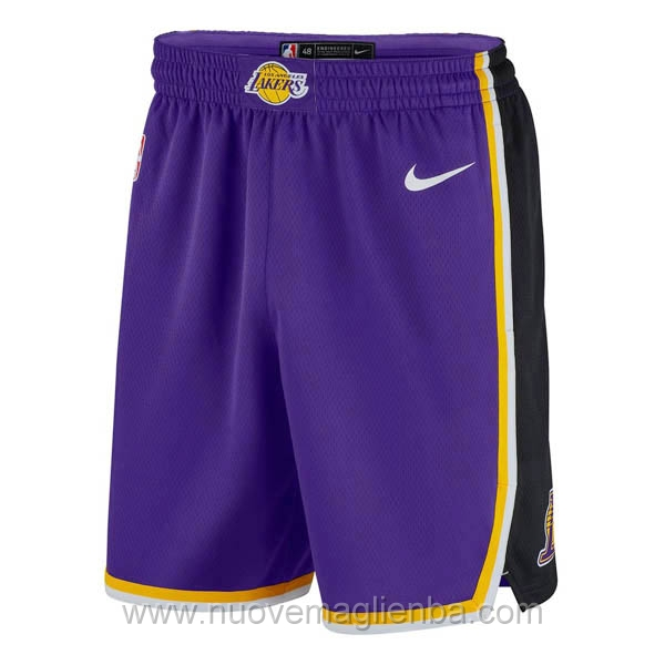 pantaloncini nba poco prezzo Retro viola Los Angeles Lakers
