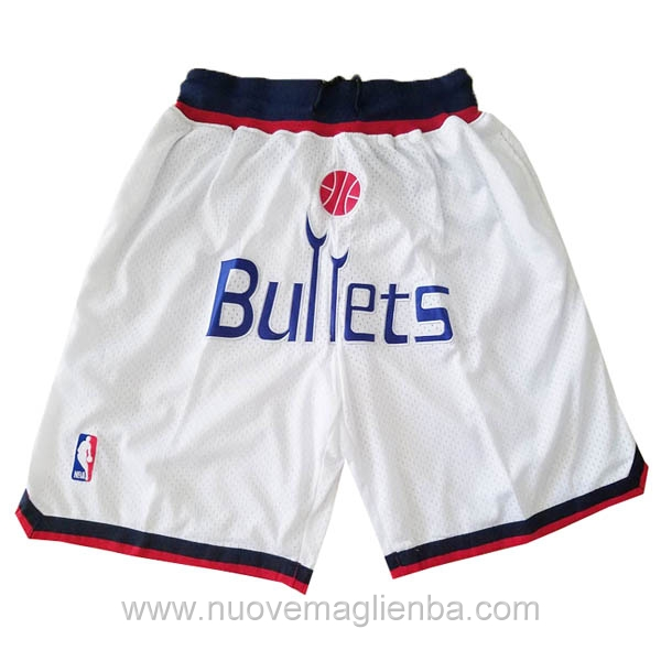 pantaloncini nba poco prezzo bianco Washington Wizards Just Don