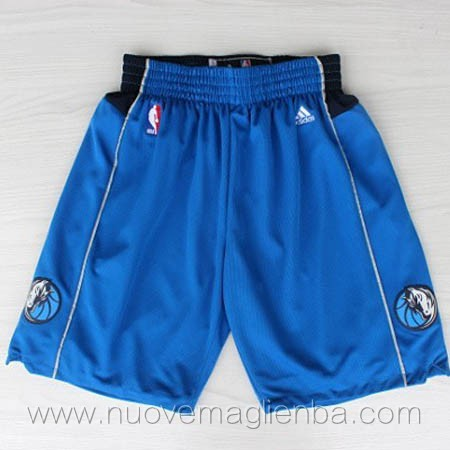 pantaloncini nba poco prezzo blu Dallas Mavericks