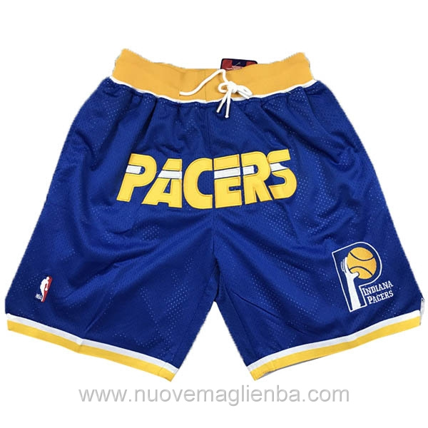pantaloncini nba poco prezzo blu Indiana Pacers Just Don