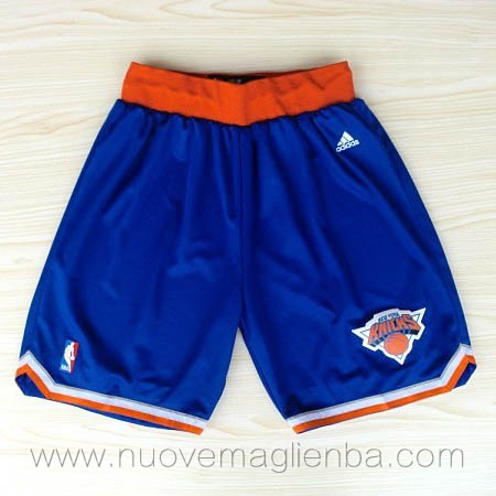 pantaloncini nba poco prezzo blu New York Knicks