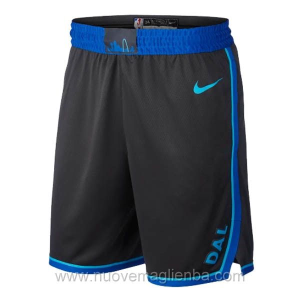 pantaloncini nba poco prezzo nero Dallas Mavericks City Edition