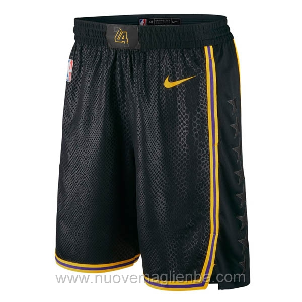 pantaloncini nba poco prezzo nero Los Angeles Lakers City Edition