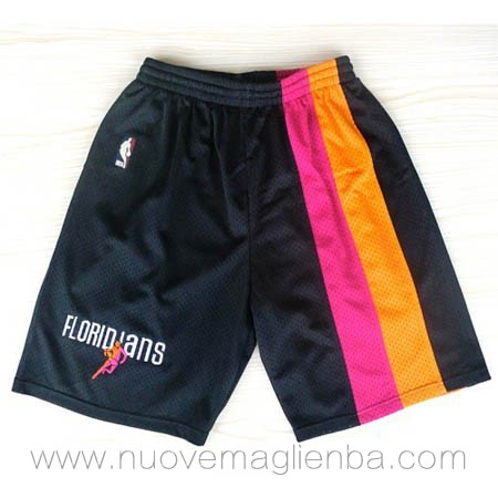 pantaloncini nba poco prezzo nero Miami Heat Rainbow Edition