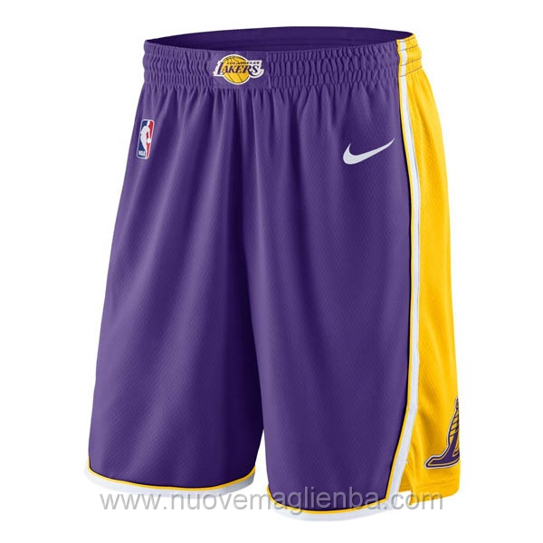 pantaloncini nba poco prezzo porpora Los Angeles Lakers