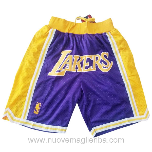 pantaloncini nba poco prezzo porpora Los Angeles Lakers Just Don