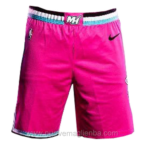 pantaloncini nba poco prezzo rosa Miami Heat Sunset Vice