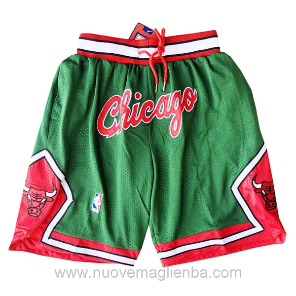 pantaloncini nba poco prezzo verde Retro Chicago Bulls Just Don