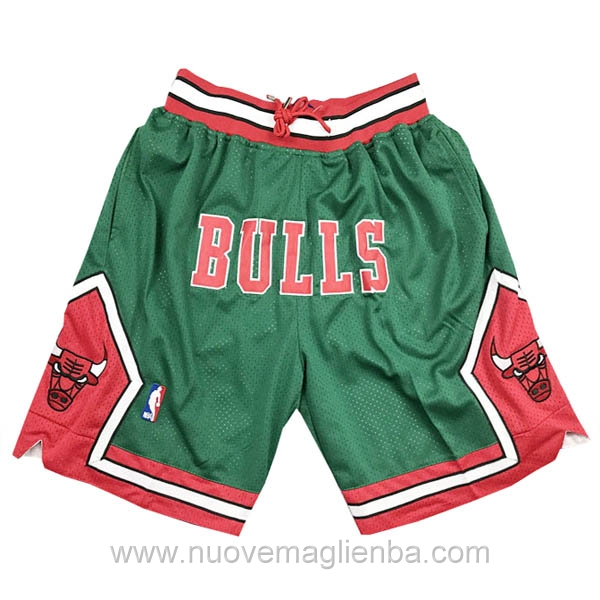 pantaloncini nba poco prezzo verde Retro Chicago Bulls Just Don 2008-09
