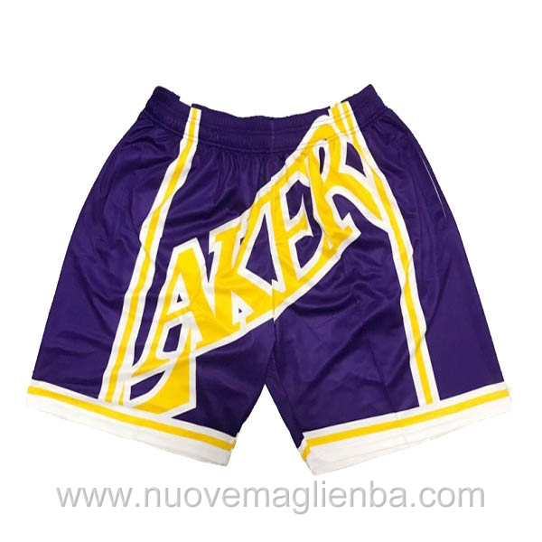 pantaloncini nba poco prezzo viola Big face Los Angeles Lakers